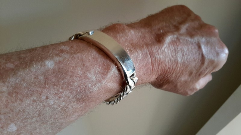 15mm Mens Silver ID Bracelet trev oz-1