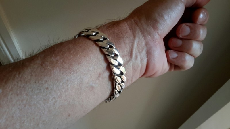 15mm Mens Silver ID Bracelet trev oz-2