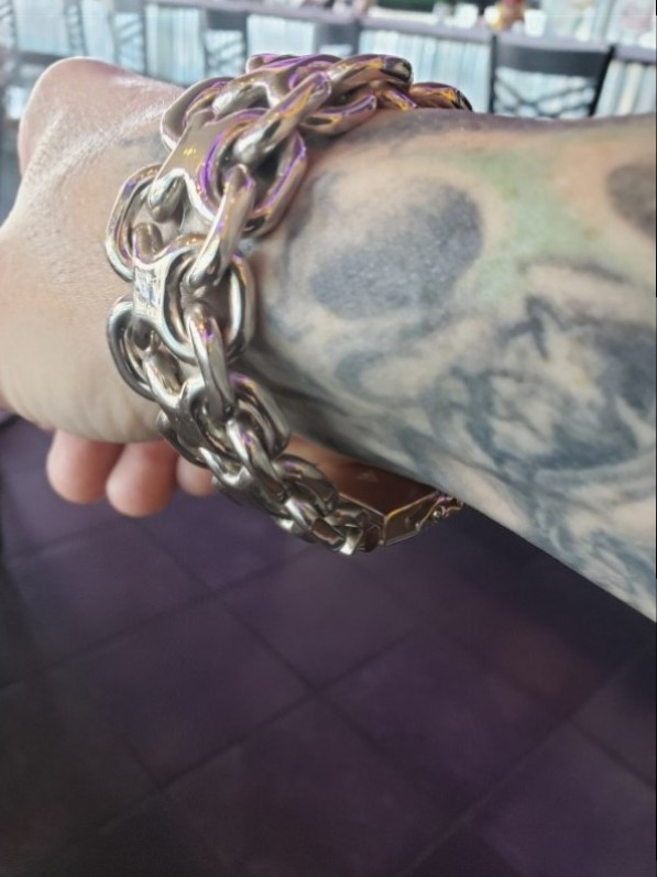 25mm Unique, Heavy, Silver KBB1 Bracelet