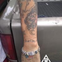 Mexican Garibaldi Link ID Bracelet by a customer