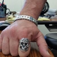 Erotic Biker Skull Ring