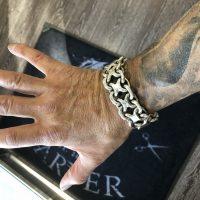 25mm Unique, Heavy, Silver KBB1 Bracelet