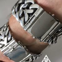 25mm x 35mm Herringbone Heavy Mens Bracelet