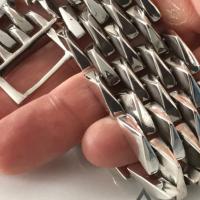 25MM Mens Heavy Silver Spike Bracelet