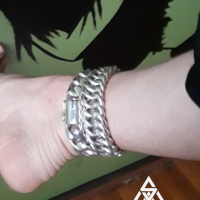 Chunky Hoop Link Anklet Worn by Kyle