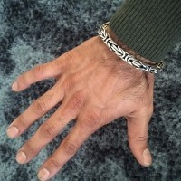 Mens Identity Bracelet 15mm