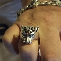 Silver Leopard Ring