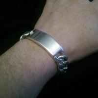 15mm Mens ID Bracelet