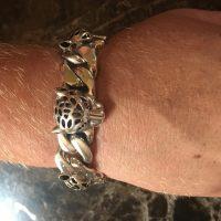 mens leopard bracelet -2