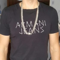 Roman from Russia wearing is 32 inch cuban chain