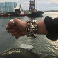 Substantial Mens 40mm Silver Bracelet New Zealand