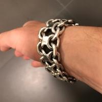 Heavy Silver KBB 1 Bracelet sent in by customer