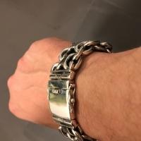 Unique, Heavy, Silver KBB1 Bracelet 25mm