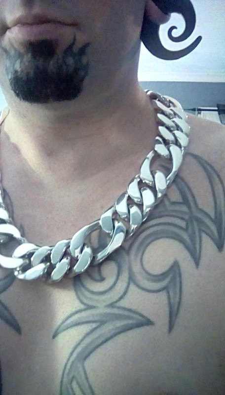 Mens Figaro Link Necklace - 35mm Design