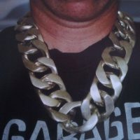 40mm Huge Silver Curb Chain Necklace