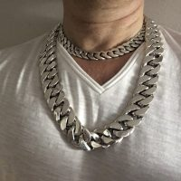 25MM Curb Link Chain Necklace