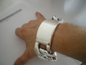 Very Heavy Mens ID bracelet