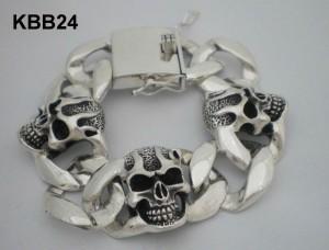 Heavy Biker Skull Bracelet