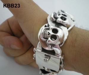 Super Heavy Skull Bracelet