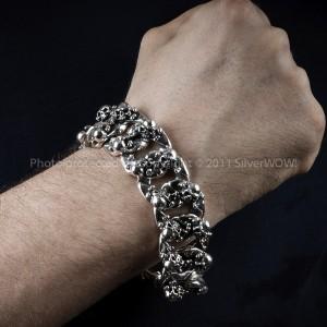 High End Heavy Skull Bracelet