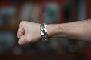 23mm Curb Link Silver Bracelet