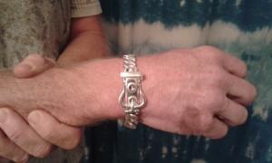 15mm mens buckle bracelet