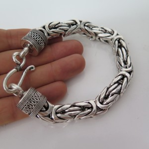 Heavy 12mm Byzantine Bracelet