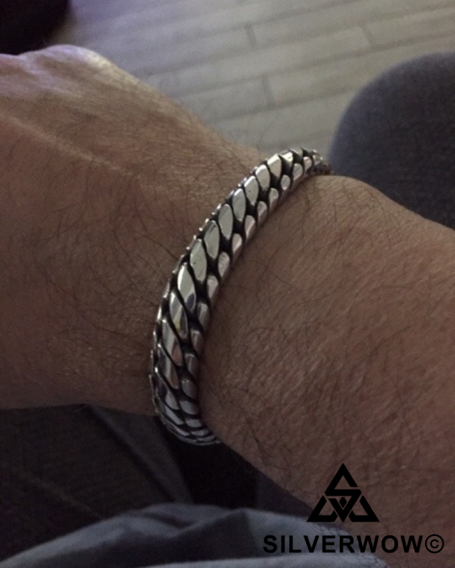 Tony Altamonte From Florida with his 10MM Chunky Woven Snake Bracelet | BY Silverwow