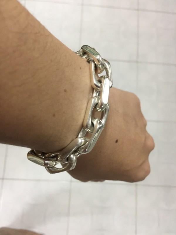 12mm Men's Chain Link Bracelet by John