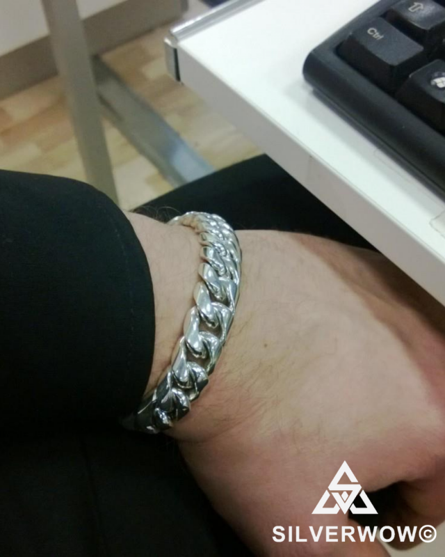 15MM Chunky Cuban Bracelet for Men | BY Silverwow