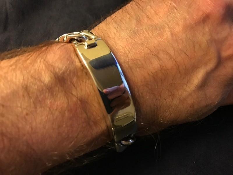 15mm Mens Identity Bracelet Michael