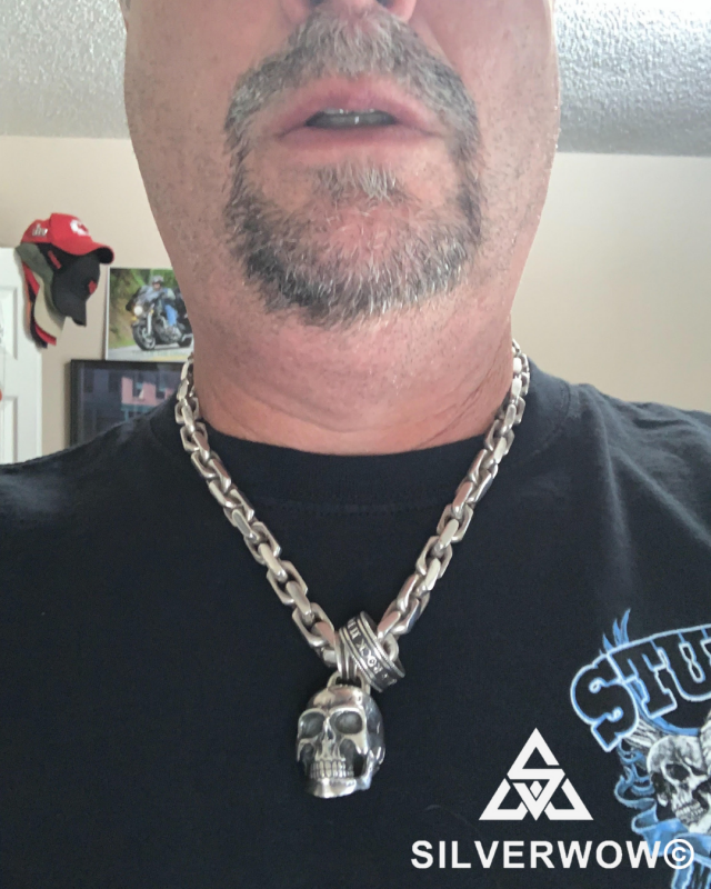 Mark with his 15MM Chain Link Necklace | Silverwow in Missouri