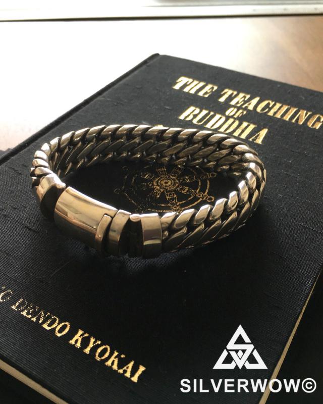 Unique, Sleek 15MM Woven Snake Bracelet for Men | BY Silverwow