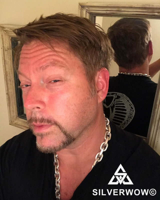 Jason and his 15MM Chain Link Necklace | BY Silverwow