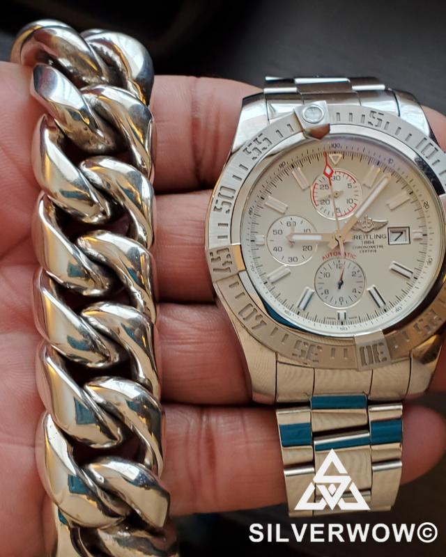 9.5 Inch 25MM Cuban Link Bracelet for Men