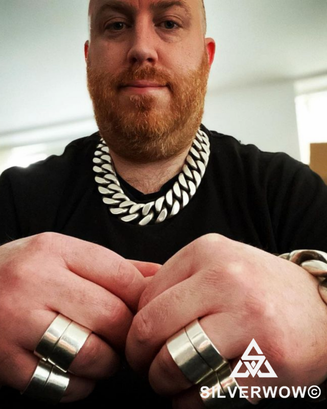 Jay with his Curb Chain Necklace - Super CHunky and Heavy! | BY Silverwow