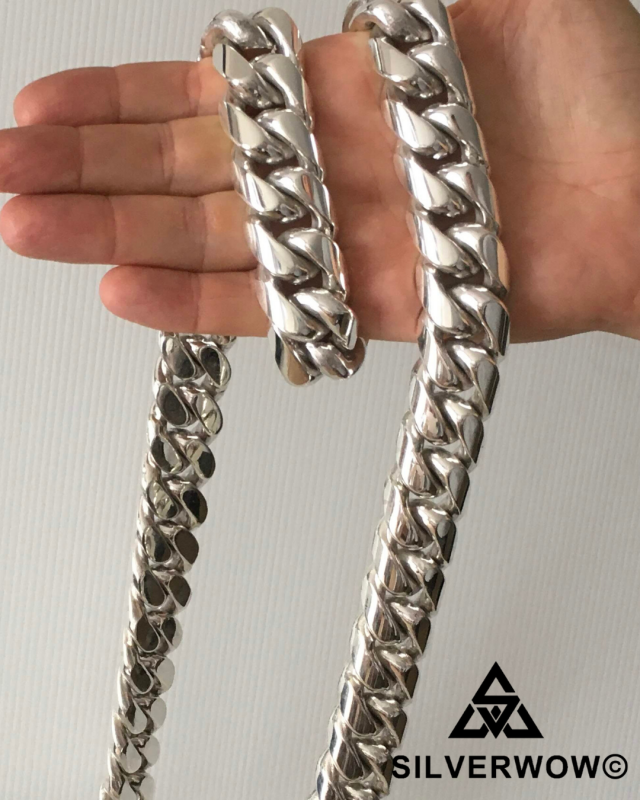 Heavy! Massive! Fat 25MM Cuban Link Necklace For Men and Gents | BY Silverwow