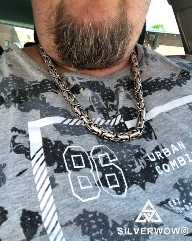 28 INCH x 10 MM Wide, Fat and Chunky Bali Necklace sent in by Jonny from Sweden