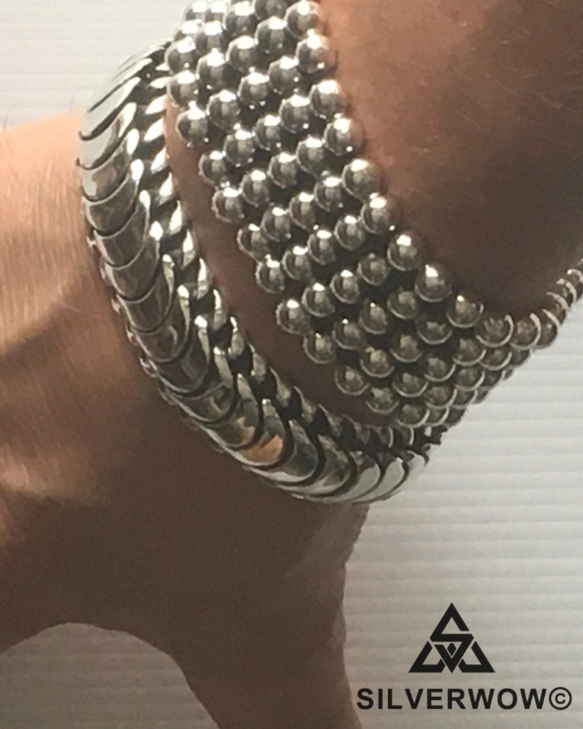 30MM Super Chunky Ball Bracelet and Agung Bracelet for Men | BY Silverwow