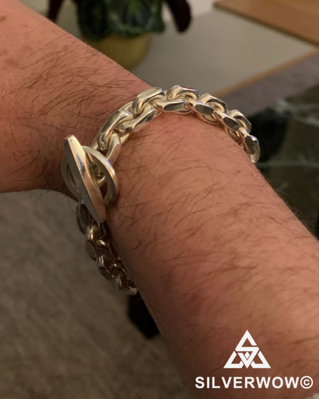 Jack with his 8MM Toggle Silver Bracelet | BY Silverwow