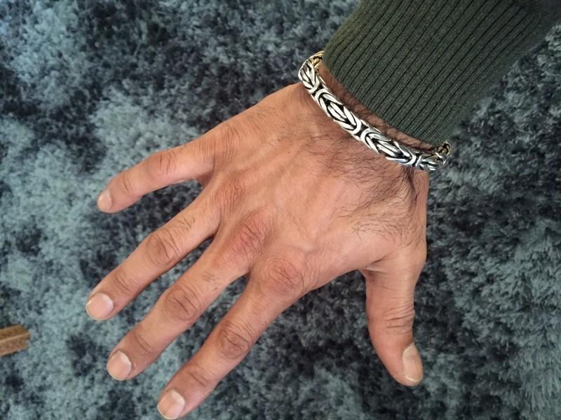 8MM Unique Men's Bali Byzantine Bracelet
