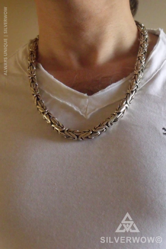 Substantial Artisan Byzantine Necklace Chains for Men | BY Silverwow
