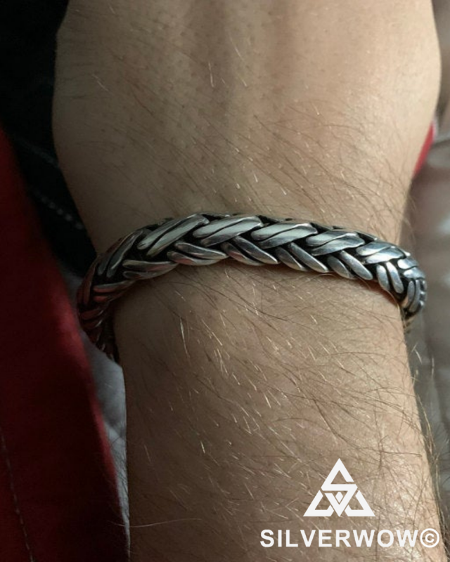Chunky, Thick and Unusual Double Rope Weave Bracelet | Sent in BY Carmen
