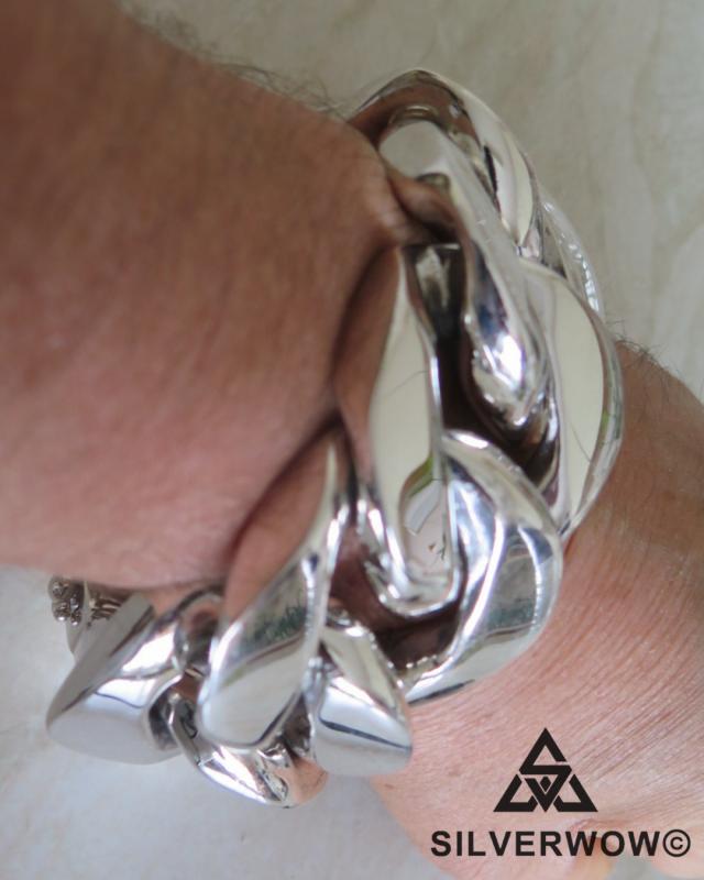 Super Chunky 35MM Cuban ID Bracelet for Men | BY Silverwow