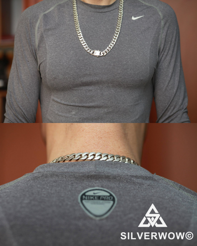 Heavy Curb Link Necklace for Men | BY Silverwow