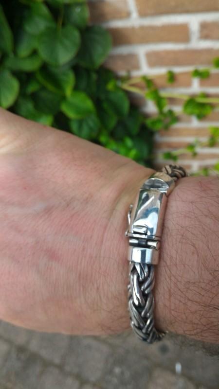 Double Rope Weave Mens Bracelet