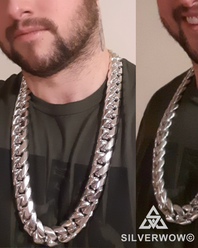 25MM Fat, Massive, Chunky Cuban Link Necklace Chain for Men  | BY Silverwow