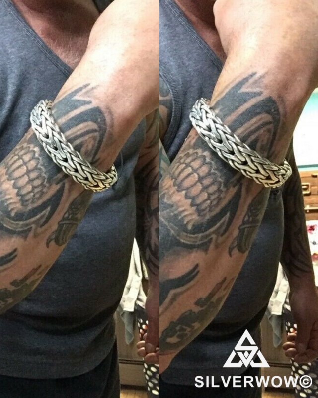 16MM Chunky, Unique Rope Weave Bracelet for Men | BY Silverwow
