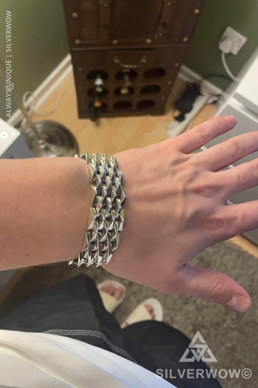 Super Chunky and Heavy Spike Bracelet for Men | BY Silverwow