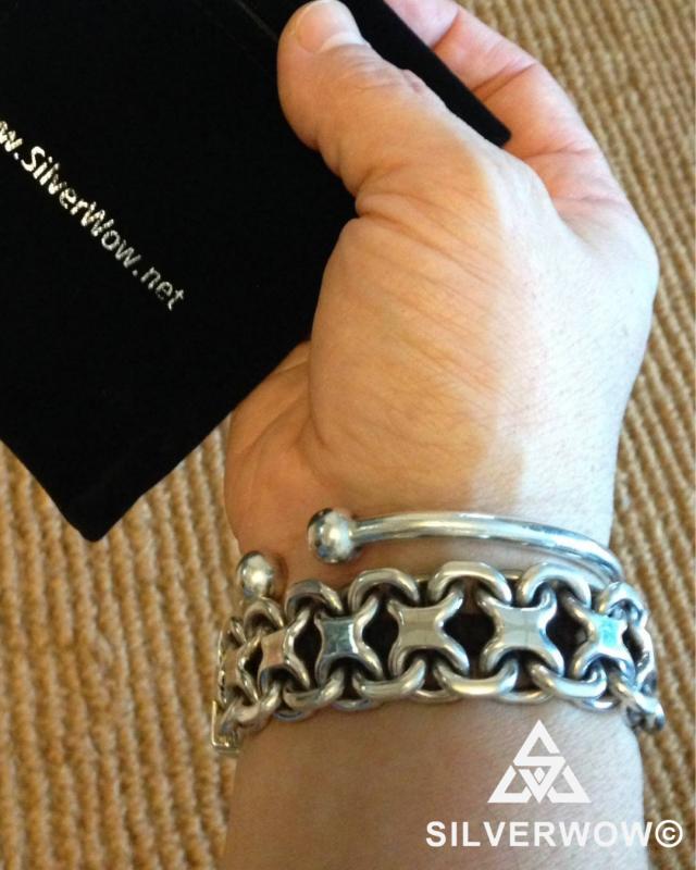 Chunky, Heavy, KBB1 Bracelet sent in by customer | BY Silverwow